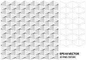 3D Vector interior wall panel pattern.