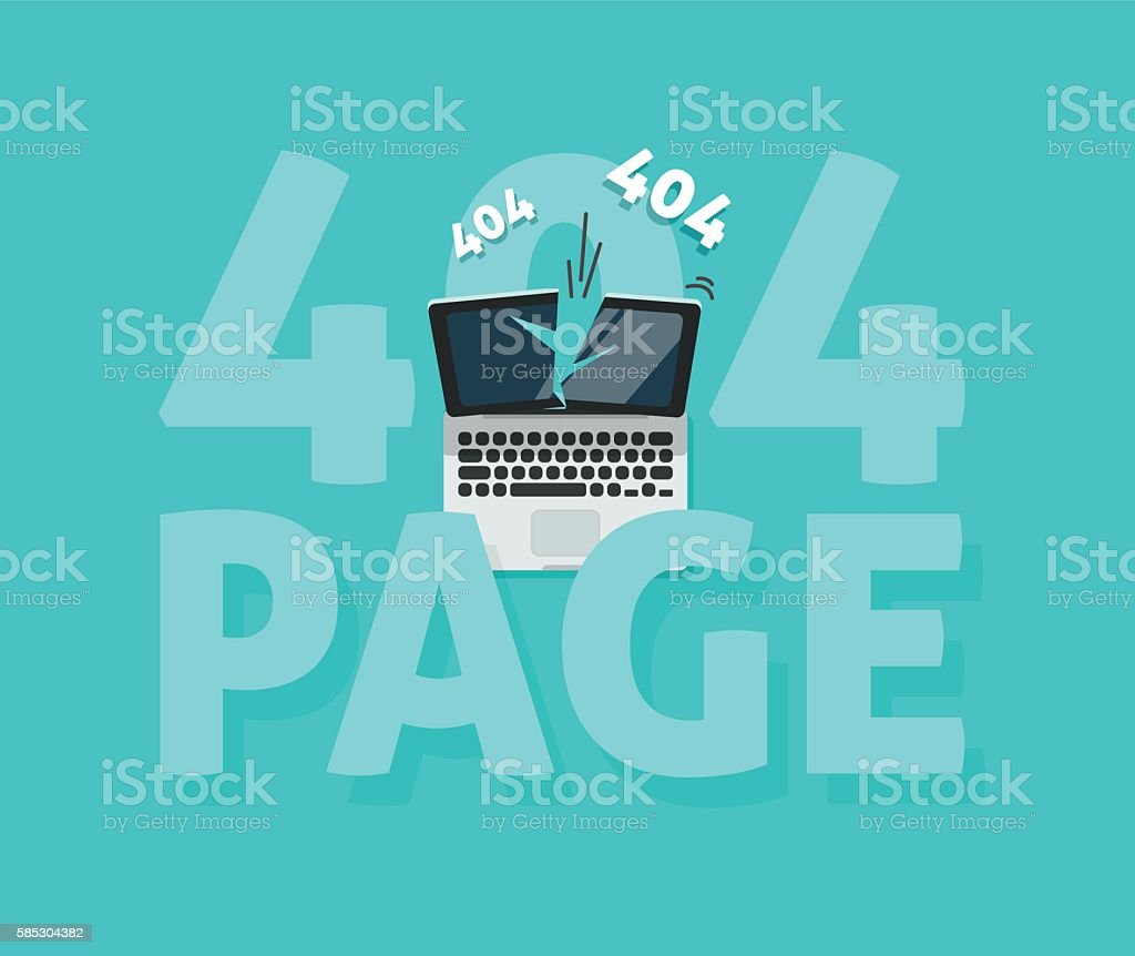 abstract 404 error page vector illustration webpage not found