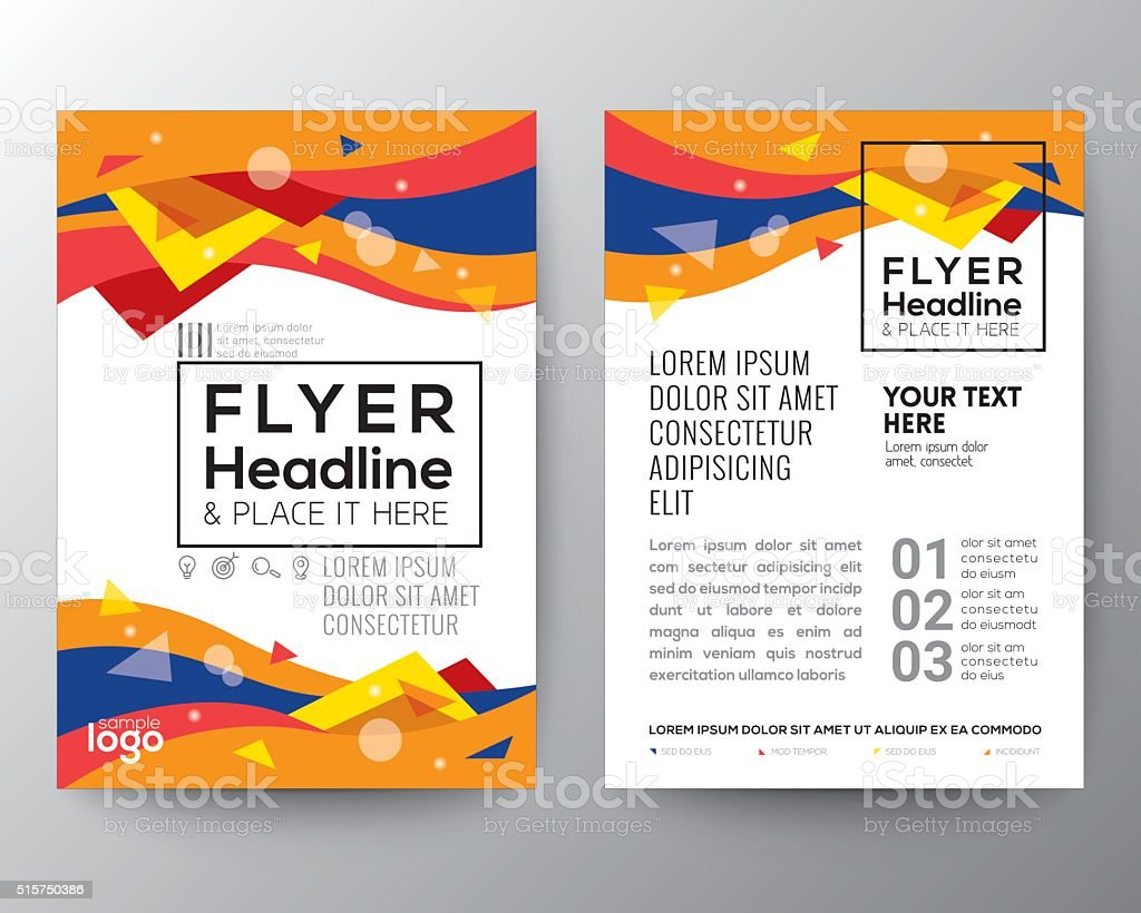 Abstract 80's style Triangle curve wave shape Poster Brochure Flyer vector art illustration