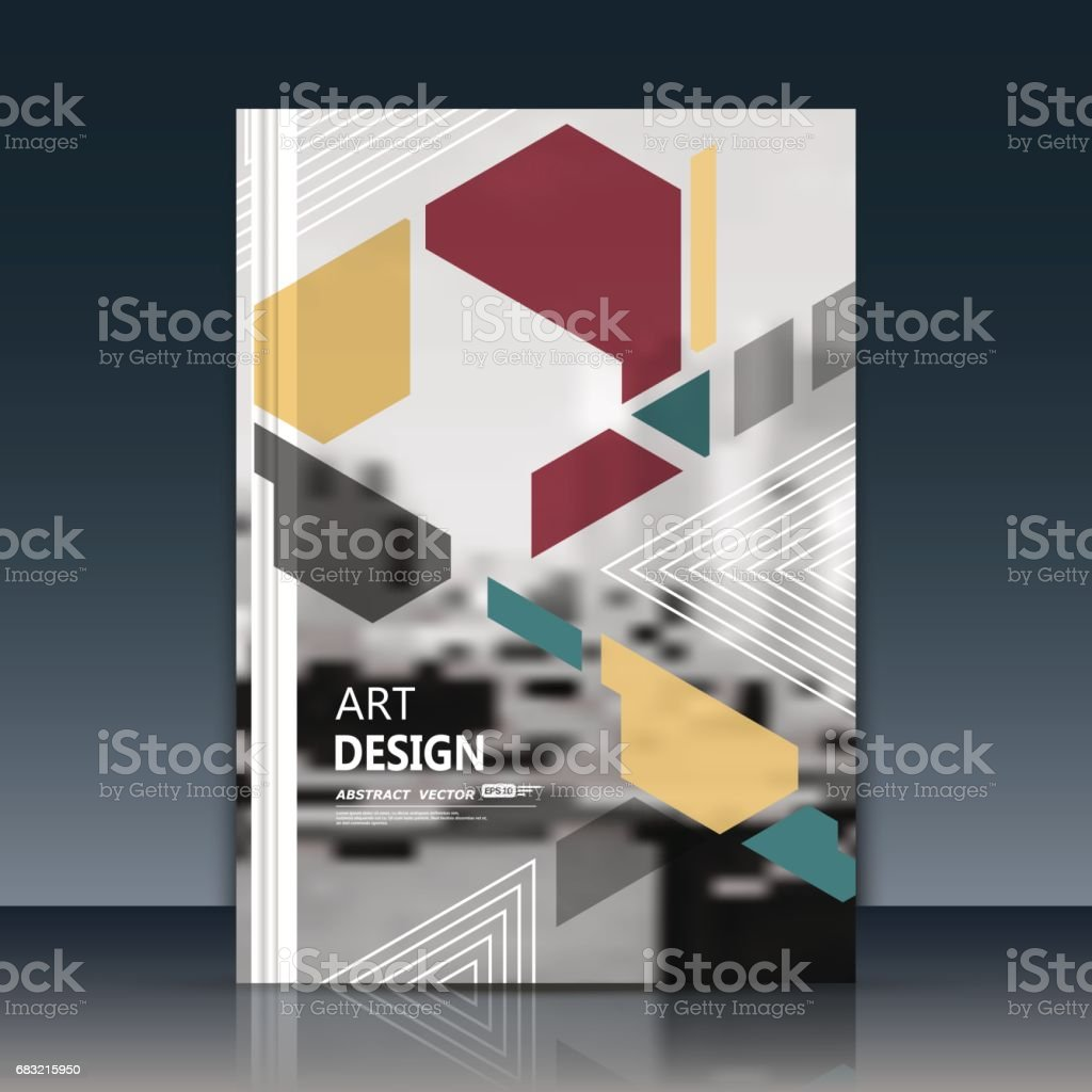 Abstract a4 brochure cover design. Art text frame surface. Patch...