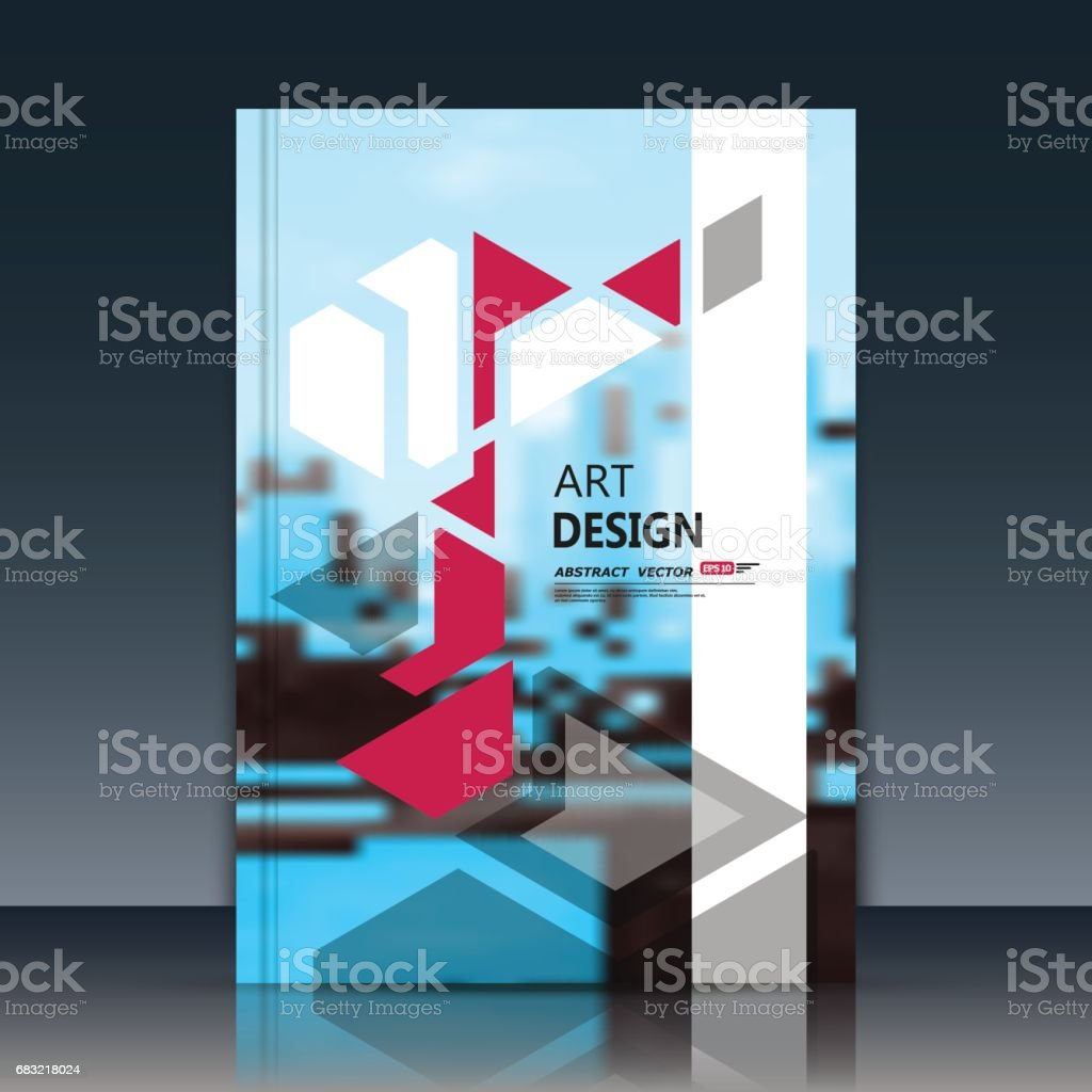 Abstract a4 brochure cover design. Art text frame surface. Patch title sheet model. Creative vector front page. Ad form texture. Red triangle figure icon. White vertical stripe. Blue flyer fiber font abstract a4 brochure cover design art text frame surface patch title sheet model creative vector front page ad form texture red triangle figure icon white vertical stripe blue flyer fiber font - arte vetorial de stock e mais imagens de abstrato royalty-free