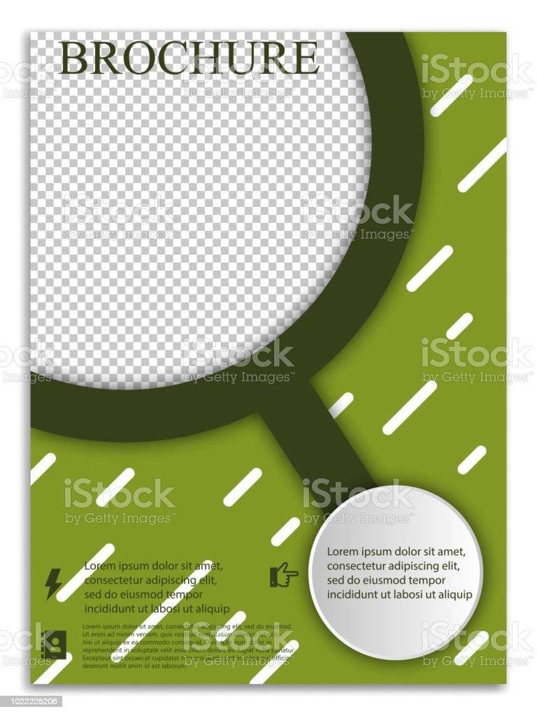 Abstrakte A4 Broschüre Coverdesign Vorlagen Für Banner