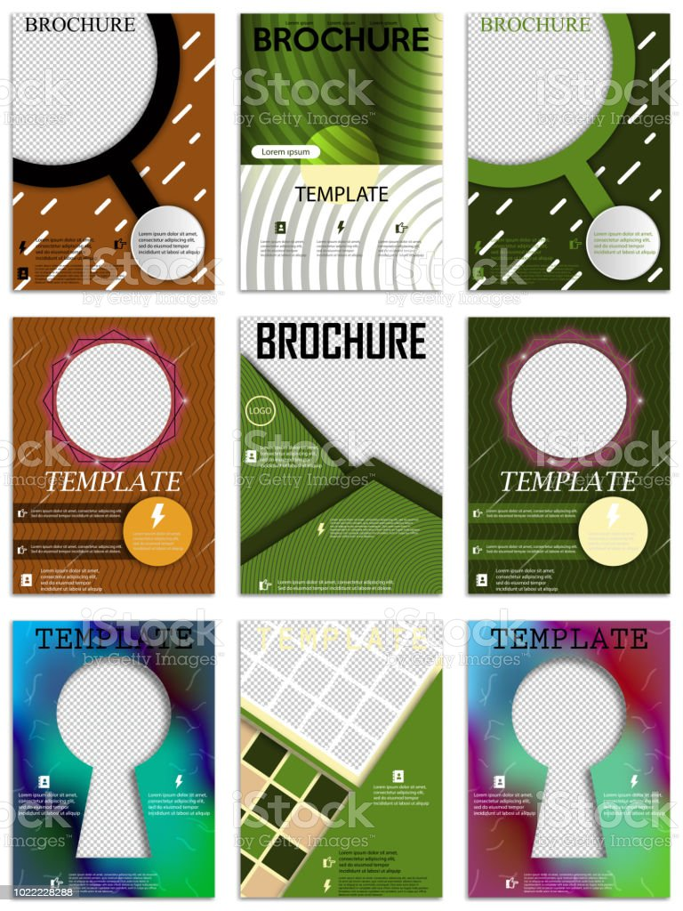 Design De Couverture Brochures A4 Abstraite Modles Pour Bannire Carte Visite Fiche