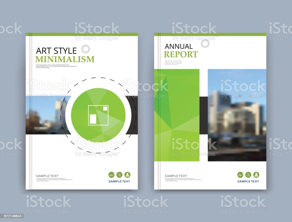 Abstract a4 brochure cover design. Text frame surface. Urban city view font. Title sheet model. Creative vector front page. Brand logo. Ad banner texture. Green round, square figure icon. Flyer fiber vector art illustration