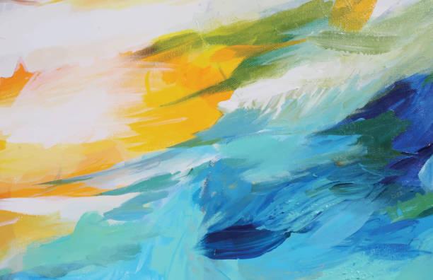 illustrazioni stock, clip art, cartoni animati e icone di tendenza di abstract acrylic painting contrast - quadro