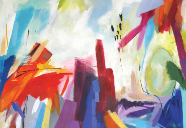 illustrations, cliparts, dessins animés et icônes de peinture acrylique abstraite émotions - art