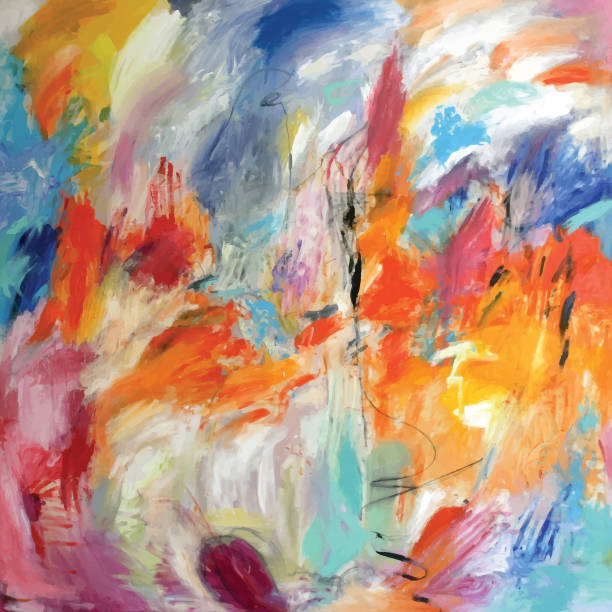 Abstrakte Acrylmalerei Gefühle – Vektorgrafik
