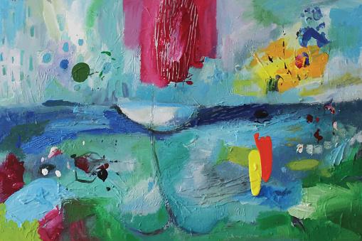 Abstract Acrylic Painting Personal Balance