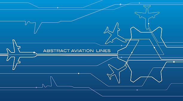 Abstract airport white lines composition, transportation background Abstract airport white lines composition, transportation background, vector design aviation wallpaper airport drawings stock illustrations