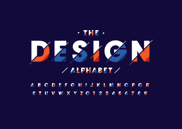 abstract alphabet - alphabet designs stock illustrations