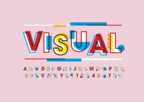 Abstract alphabet Vector of modern abstract font and alphabet alphabet designs stock illustrations