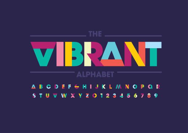 alfabet abstrakcyjny - kolory stock illustrations