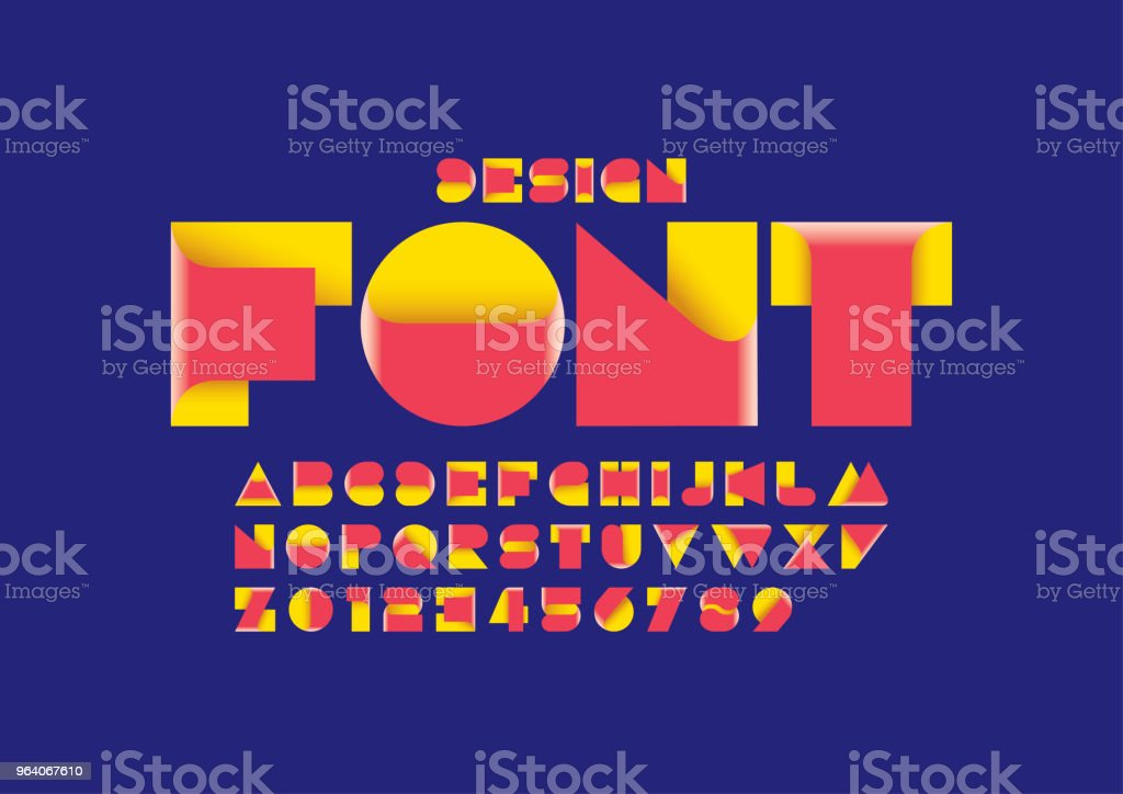 抽象アルファベット - アルファベットのロイヤリティフリーベクトルアート