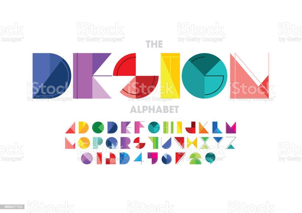 Abstract alphabet - Royalty-free Alphabet stock vector