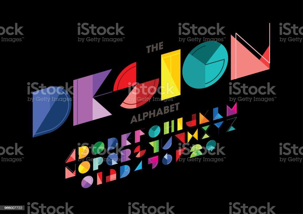 Abstrakte alphabet - Lizenzfrei Alphabet Vektorgrafik