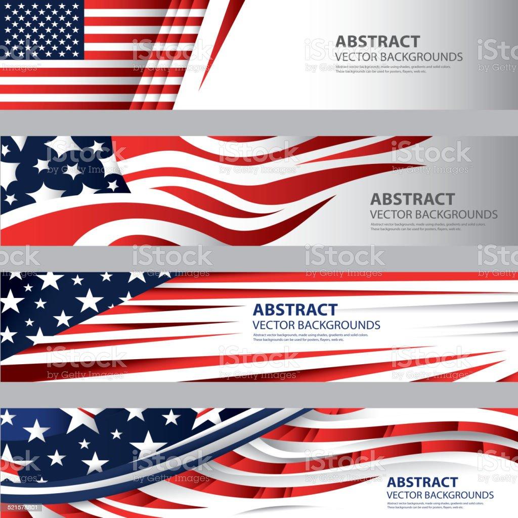Abstract American Flag Background, USA Art(Vector Art) vector art illustration