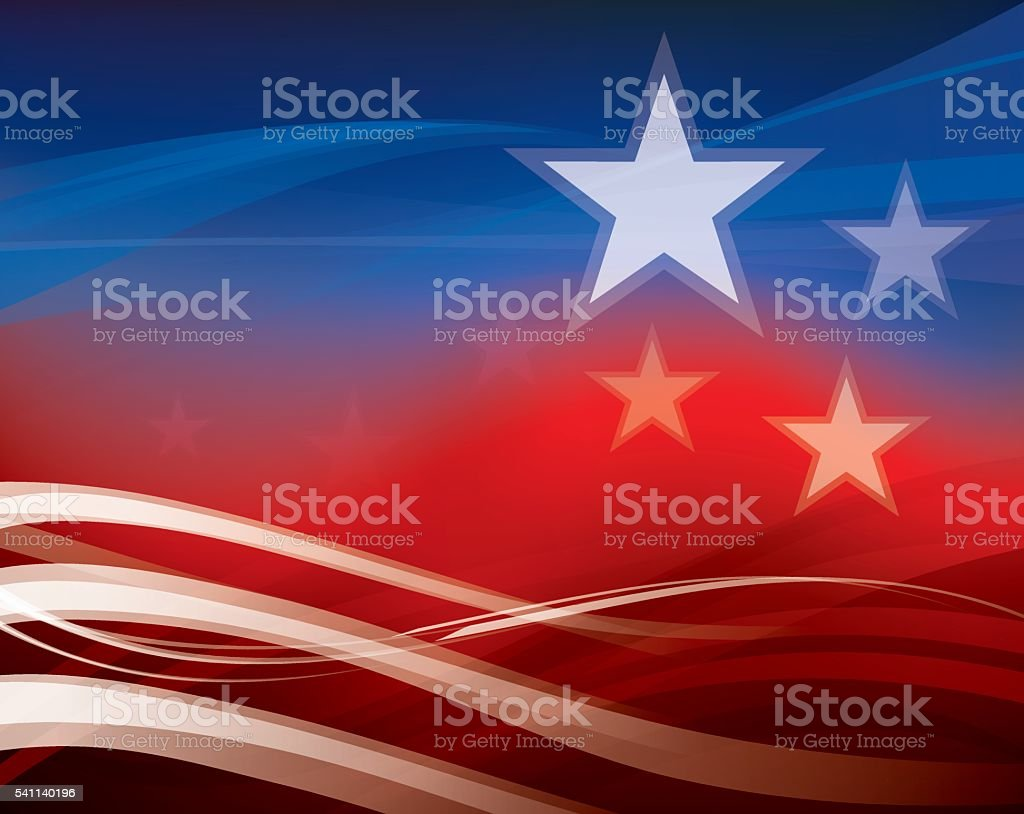 Abstract American Flag background vector art illustration