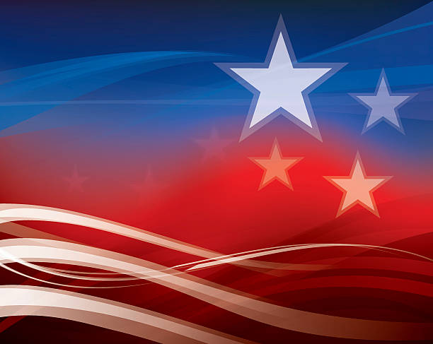 Abstract American Flag background Abstract American Flag background party conference stock illustrations
