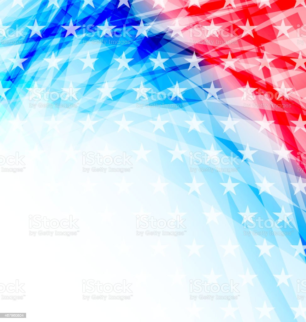 Abstract American Flag for Independence Day vector art illustration