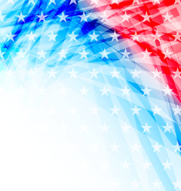 abstract american flag for independence day - american flag background stock illustrations