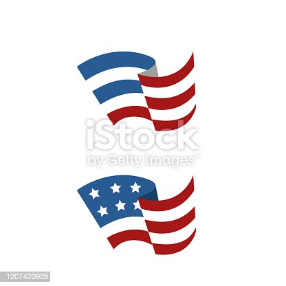 istock Abstract American flag 1207420925