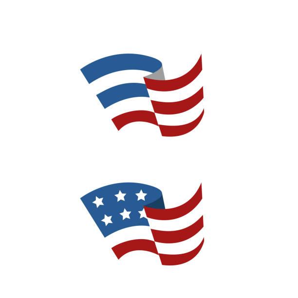 soyut amerikan bayrağı - american flag stock illustrations