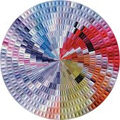 abstract colorful round pattern background
