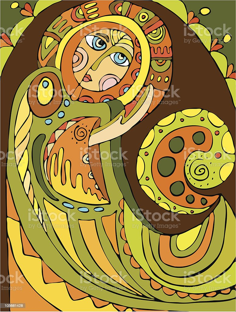 abstract angel royalty-free stock vector art