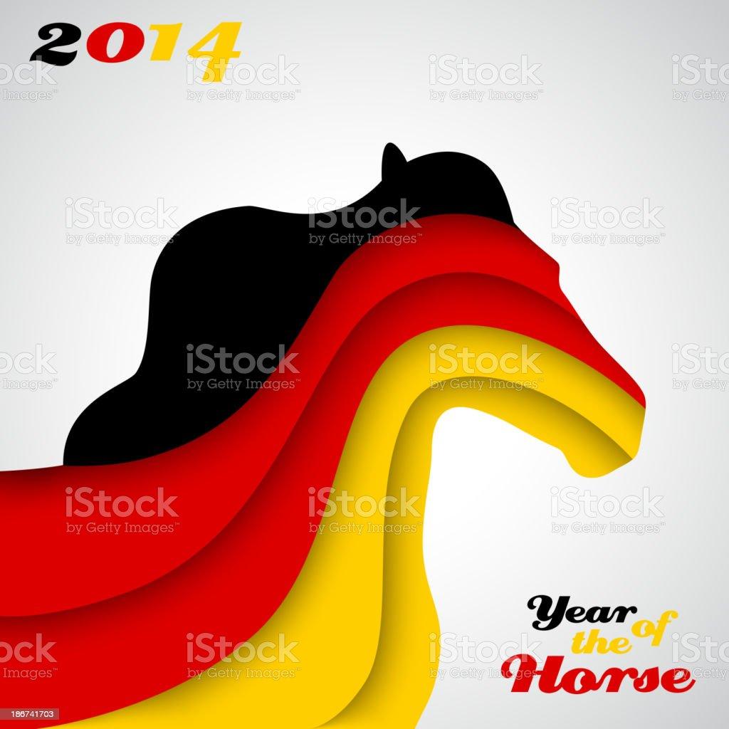 Abstract applique paper horse. Vector illustration vector art illustration
