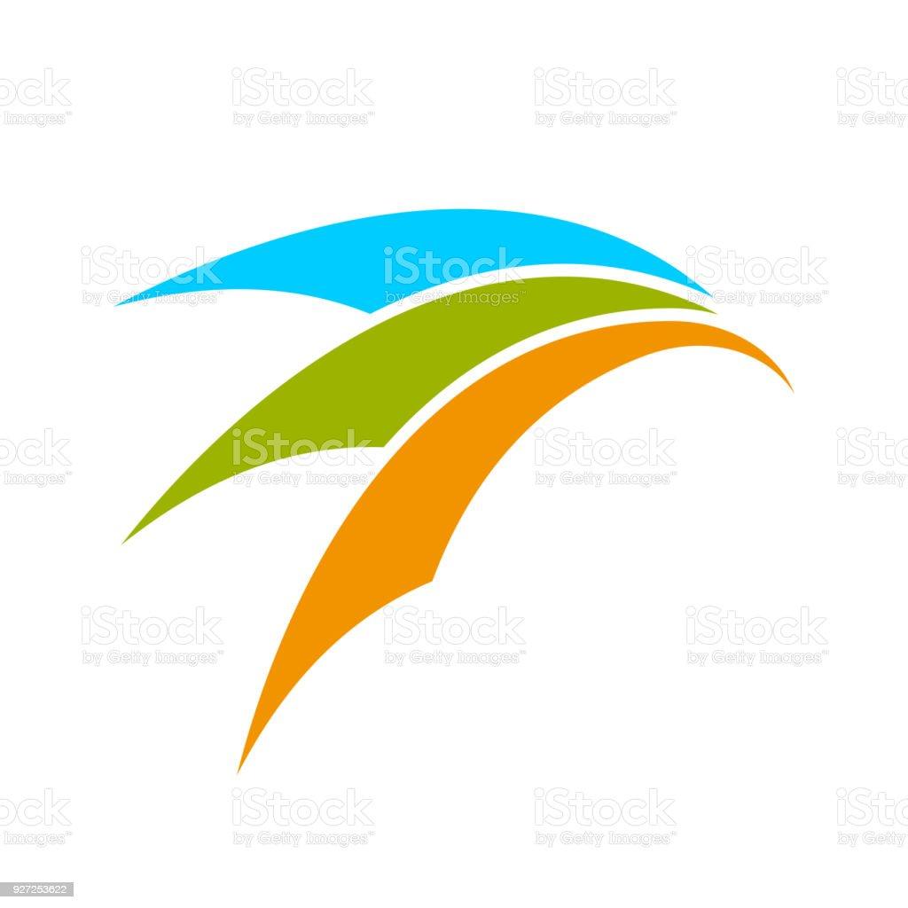 Conception de symbole abstrait mouvement Arch - Illustration vectorielle