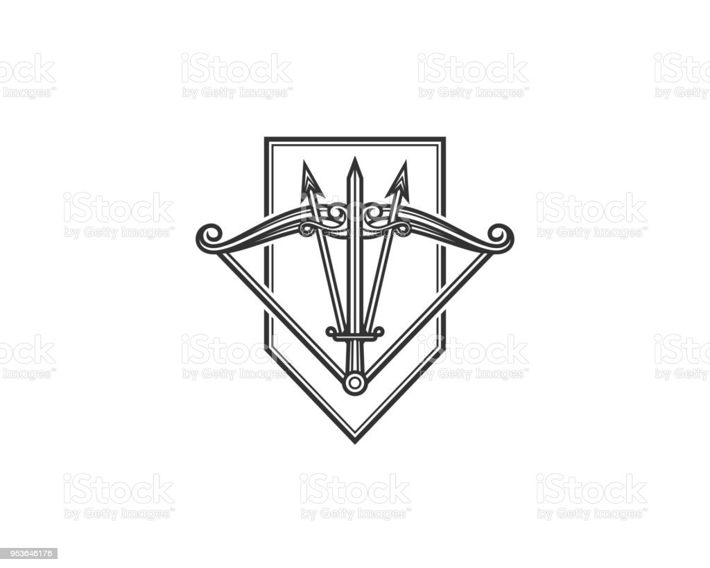 Abstract Archery Logo Stock Illustration - Download Image