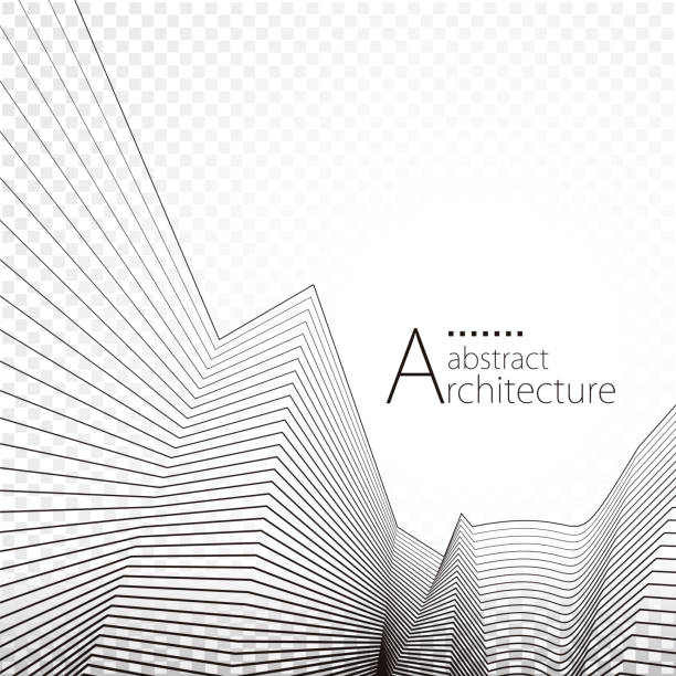 arka mimari plan - abstract architecture stock illustrations