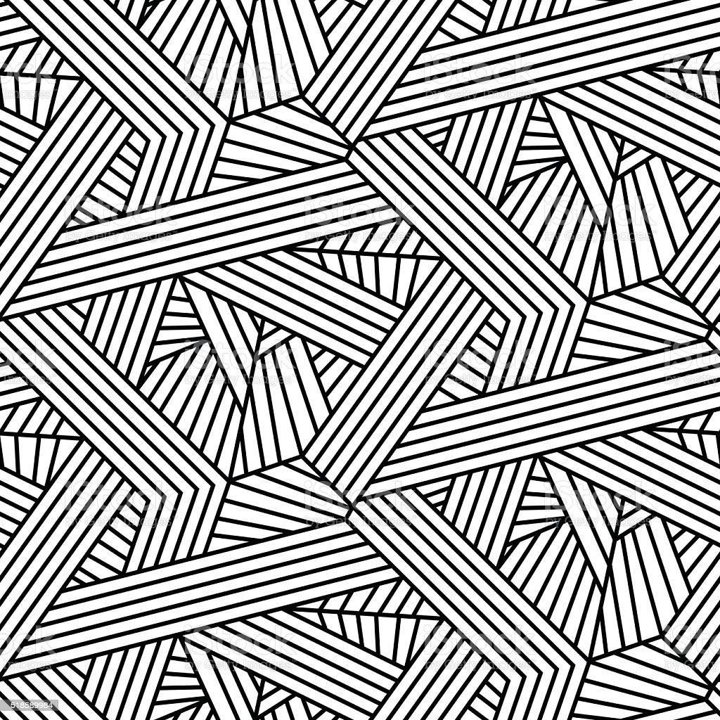 Abstract Line Art Design : Abstract architectural geometric lines seamless pattern