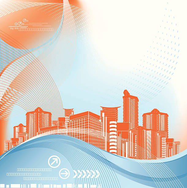 Abstract Architecture Background vector art illustration