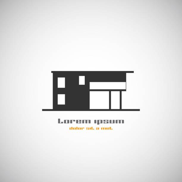abstrakt architektur-gebäude silhouette vektor-logo-design-vorlage. - villas stock-grafiken, -clipart, -cartoons und -symbole