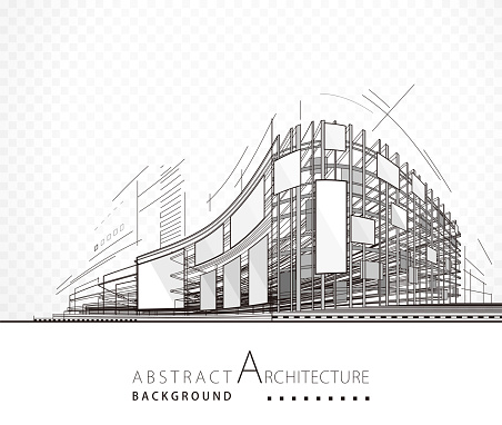 Abstract Architecture Building clipart