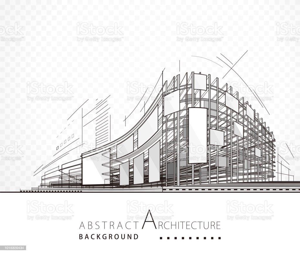 Abstrait Architecture bâtiment - Illustration vectorielle