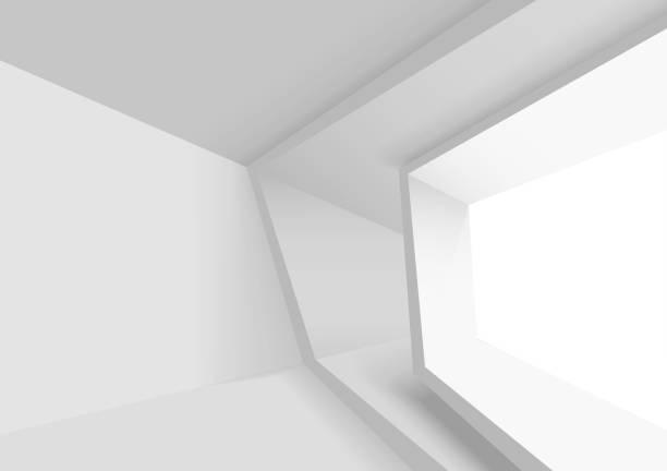 abstraktes architekturdesign - büro zukunft und niemand stock-grafiken, -clipart, -cartoons und -symbole