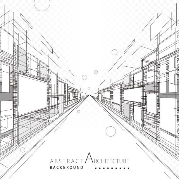 Abstrato arquitetura e Design - ilustração de arte em vetor