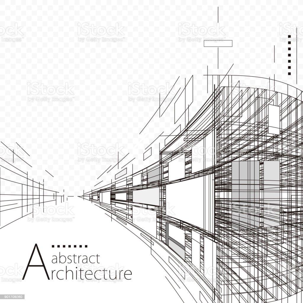Abstrait Architecture et Design - Illustration vectorielle