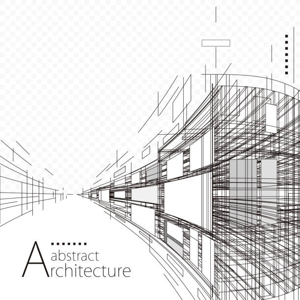 abstract architecture design - architect stock illustrations, clip art, cartoons, & icons