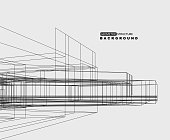 abstract architecture structure sketch pattern background