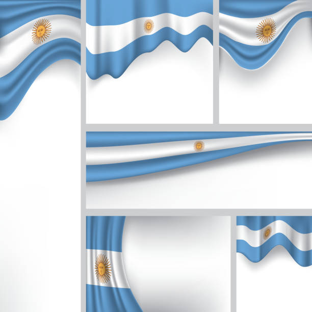 abstract argentina flag, argentinian colors (vector art) - argentina flag stock illustrations, clip art, cartoons, & icons