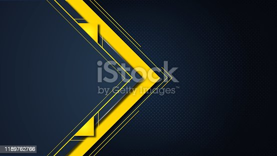 istock Abstract arrow composition of triangle.  flyers design template, company profile, magazine, poster, annual report, book & booklet cover 1189762766
