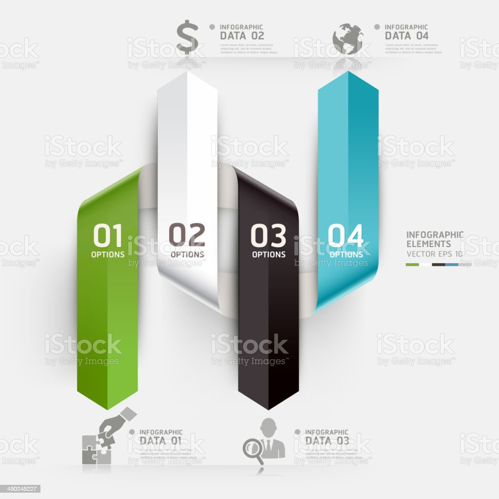 Abstract arrow Infographics banner origami style template. royalty-free stock vector art