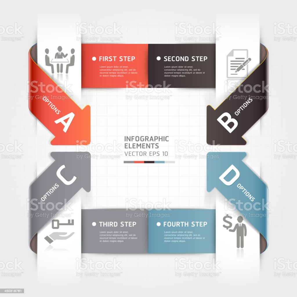 Abstract arrow Infographics banner origami style template. royalty-free abstract arrow infographics banner origami style template stock vector art & more images of abstract