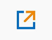 Abstract Arrow Logo Template Icon Vector Illustration Design Editable Resizable EPS 10