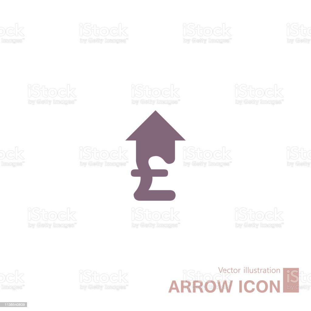 Abstract arrow symbol design.Money symbol.