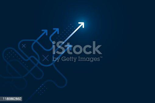 istock Abstract arrows direction illustration. 1185862852