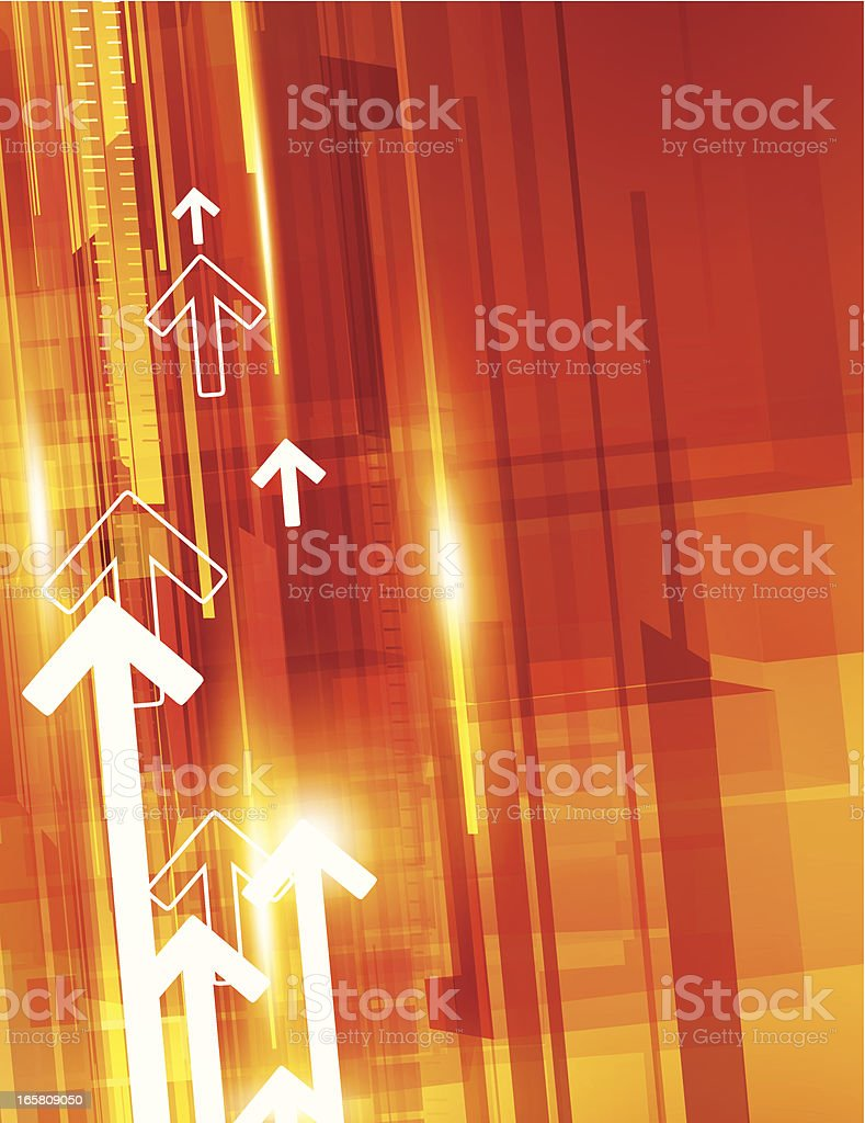Abstract arrows royalty-free stock vector art